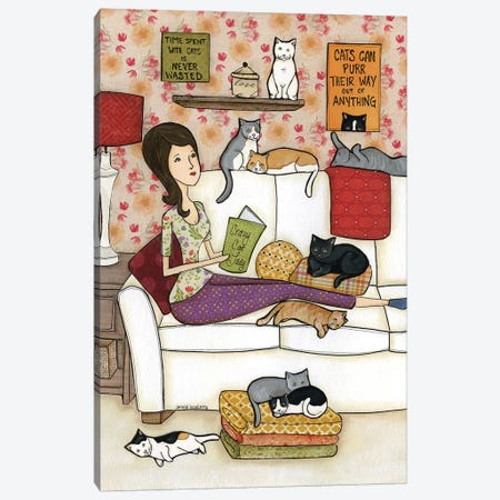 Crazy Cat Lady Canvas Print #MRH315} by Jamie Morath Canvas Print
