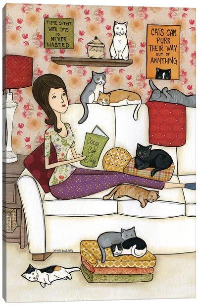 Crazy Cat Lady Canvas Art Print