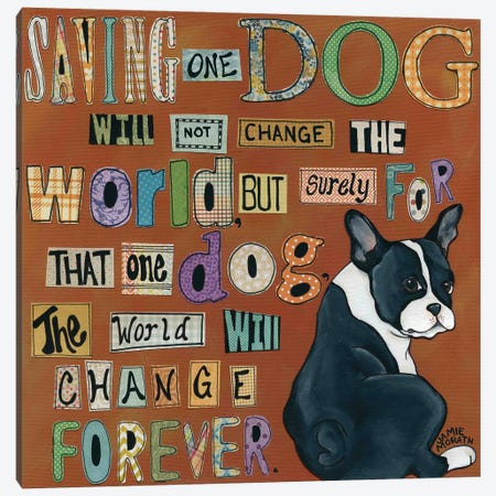 Dog World Forever Canvas Print #MRH31} by Jamie Morath Canvas Print