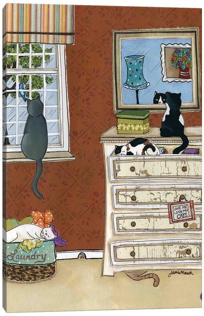 Love Me Love My Cats Canvas Art Print