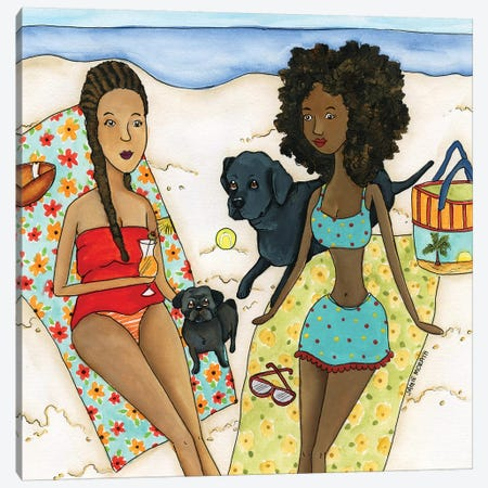 The Beach Canvas Print #MRH323} by Jamie Morath Canvas Print