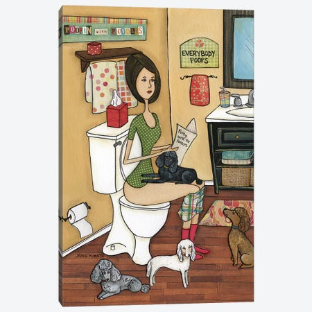 Poopin Poodles Canvas Print #MRH343} by Jamie Morath Canvas Print