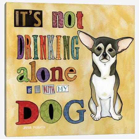 Drinking Alone Canvas Print #MRH35} by Jamie Morath Canvas Wall Art