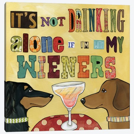Drinking With Wieners Canvas Print #MRH36} by Jamie Morath Canvas Wall Art