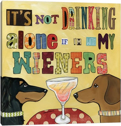 Drinking With Wieners Canvas Art Print