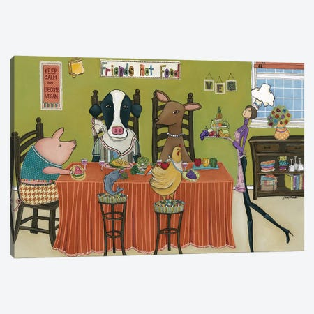 Friends Not Food Canvas Print #MRH391} by Jamie Morath Canvas Art