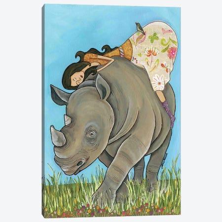 Lovin Me A Rhino Canvas Print #MRH392} by Jamie Morath Canvas Art