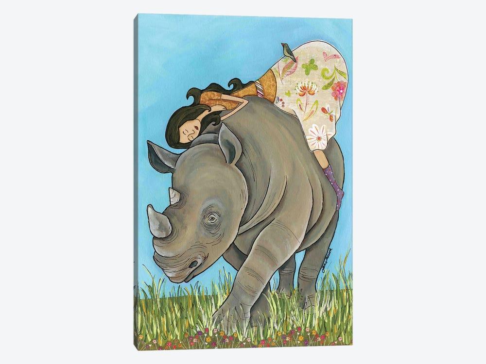 Lovin Me A Rhino by Jamie Morath 1-piece Art Print