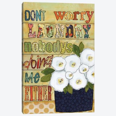 Don't Worry Canvas Print #MRH397} by Jamie Morath Canvas Print