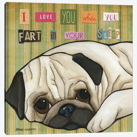 Fart In Your Sleep Canvas Print #MRH39} by Jamie Morath Canvas Print