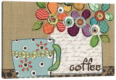 Coffee Shower Canvas Art Print