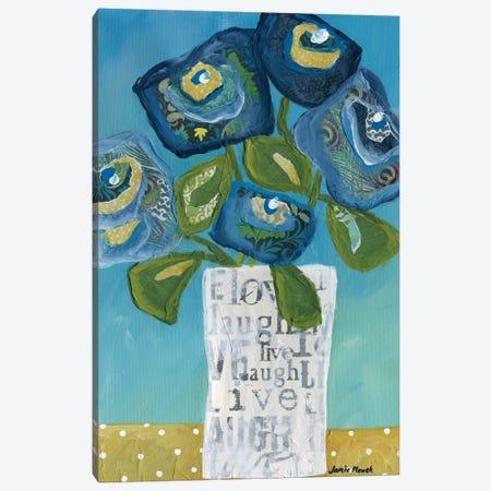 Live Laugh Love In A Vase Canvas Print #MRH405} by Jamie Morath Art Print