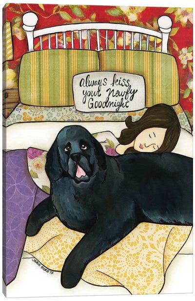 Newfy Goodnight Canvas Art Print