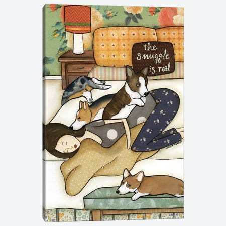 Snuggle Is Real Canvas Print #MRH422} by Jamie Morath Canvas Art