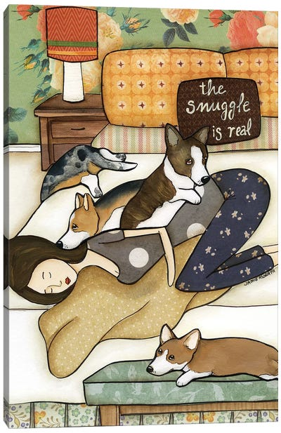 Snuggle Is Real Canvas Art Print
