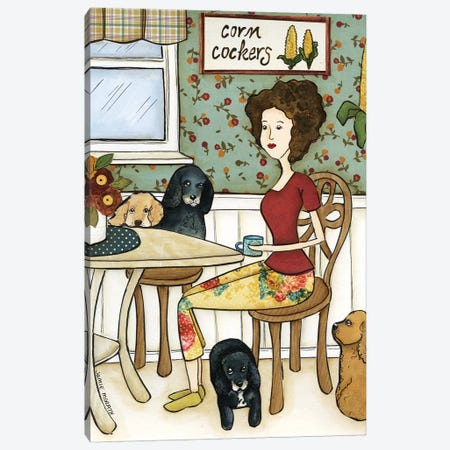 Corn Cockers Canvas Print #MRH423} by Jamie Morath Canvas Artwork