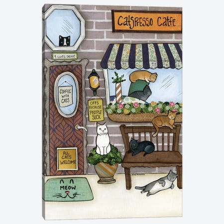 Cats Canvas Print #MRH424} by Jamie Morath Art Print