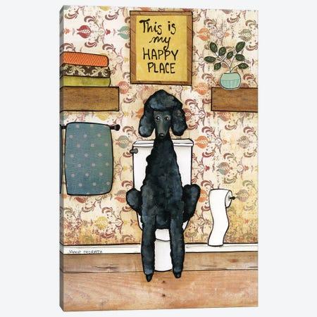 Happy Place Poodle Canvas Print #MRH427} by Jamie Morath Canvas Print