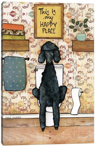 Happy Place Poodle Canvas Art Print