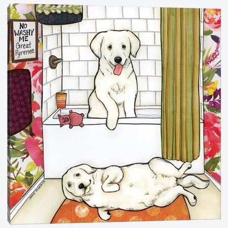 No Washy Me Canvas Print #MRH435} by Jamie Morath Canvas Wall Art