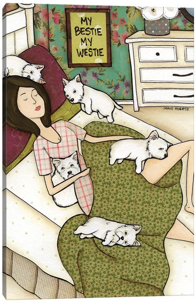 My Bestie, My Bestie Canvas Art Print