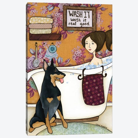 Wash It Real Good Canvas Print #MRH445} by Jamie Morath Art Print