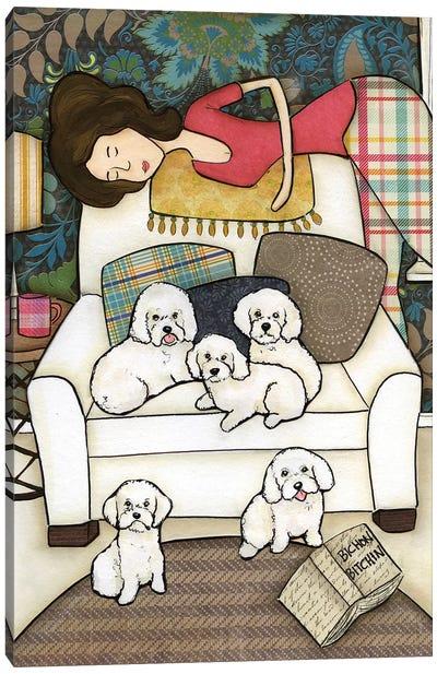 Bichon Bitchin Canvas Art Print