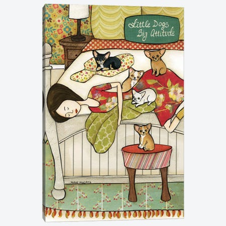 Little Dogs Canvas Print #MRH450} by Jamie Morath Canvas Print