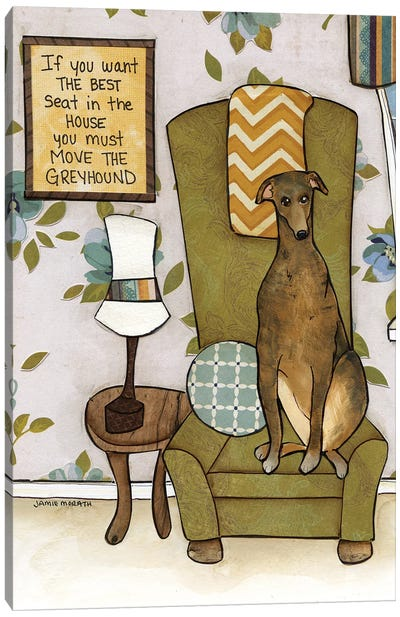 Move The Greyhound Canvas Art Print