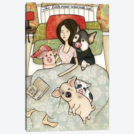 Pigs In A Blanket Canvas Print #MRH457} by Jamie Morath Canvas Artwork