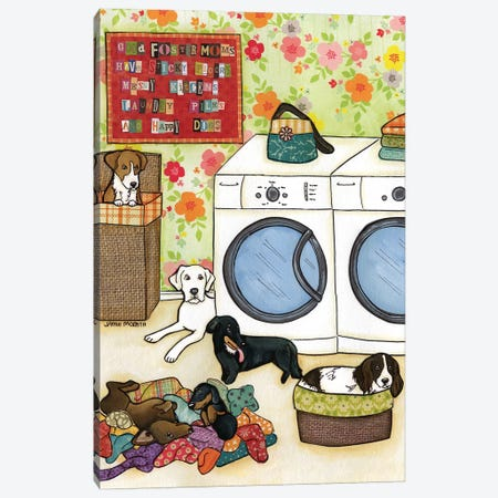 Happy Dogs 3-Piece Canvas #MRH45} by Jamie Morath Art Print
