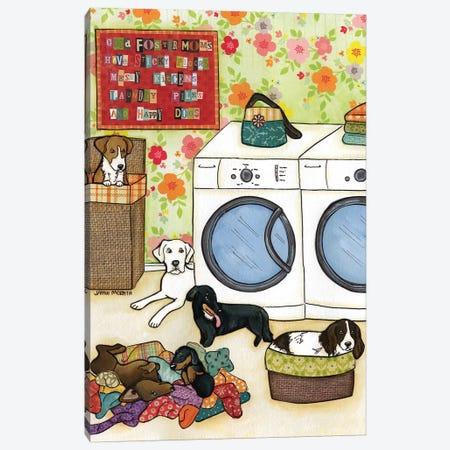 Happy Dogs Canvas Print #MRH45} by Jamie Morath Art Print