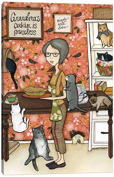 Grandma'S Cooking Canvas Art Print