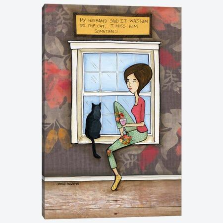 I Miss Him Canvas Print #MRH487} by Jamie Morath Art Print