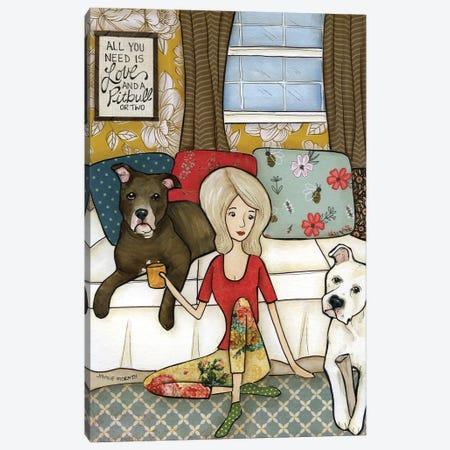 Love & A Pitbull Canvas Print #MRH491} by Jamie Morath Canvas Print