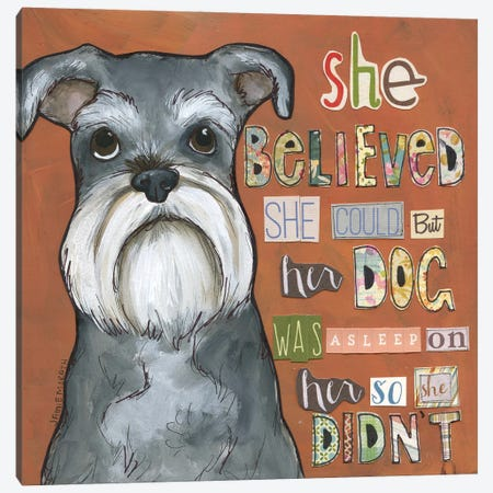 So She Didn't Canvas Print #MRH501} by Jamie Morath Art Print