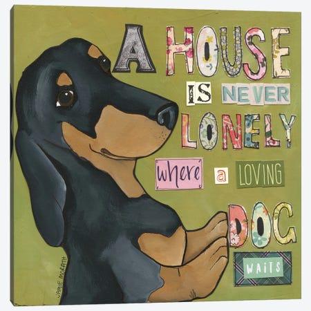 Loving Dog Waits Canvas Print #MRH502} by Jamie Morath Art Print