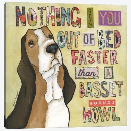 Basset Hound's Howl Canvas Print #MRH506} by Jamie Morath Canvas Art