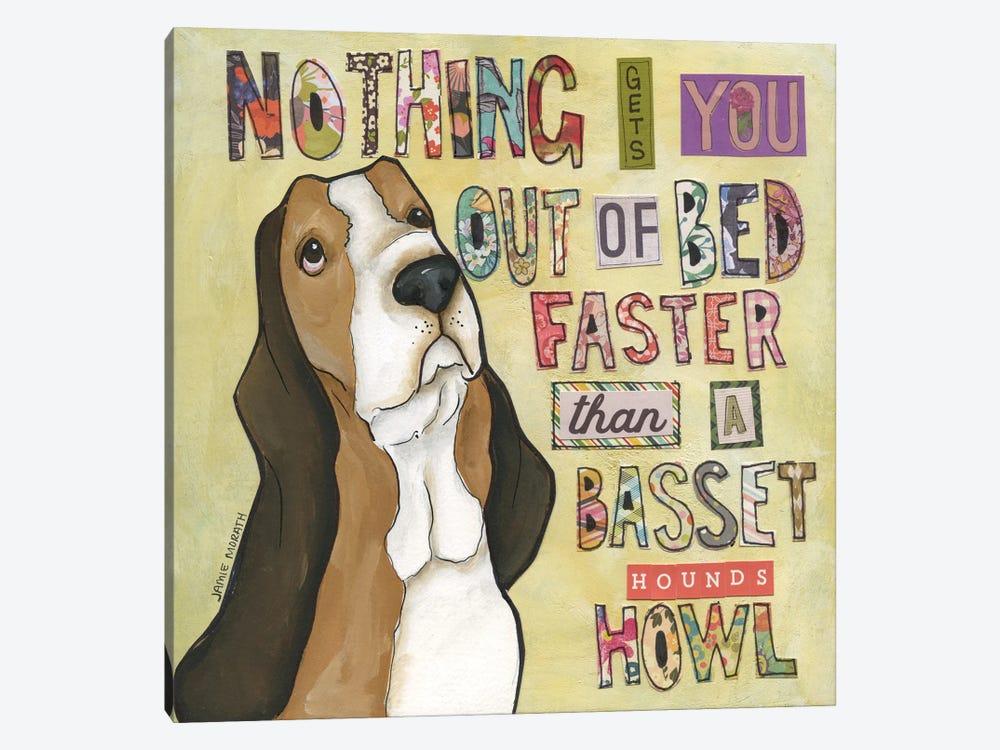 Basset Hound's Howl by Jamie Morath 1-piece Canvas Art