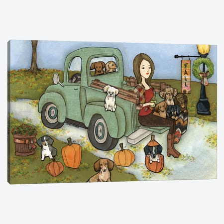 It's Fall Y'all Canvas Print #MRH516} by Jamie Morath Art Print