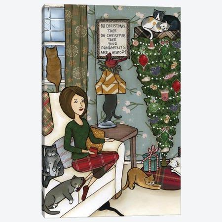 Oh Christmas Tree Cats Canvas Print #MRH517} by Jamie Morath Canvas Print