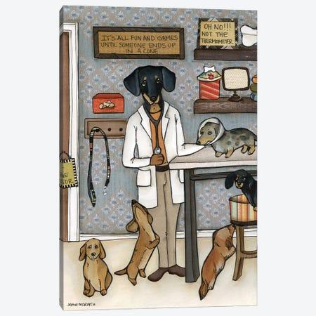 The Doxie Dogtor Canvas Print #MRH521} by Jamie Morath Art Print