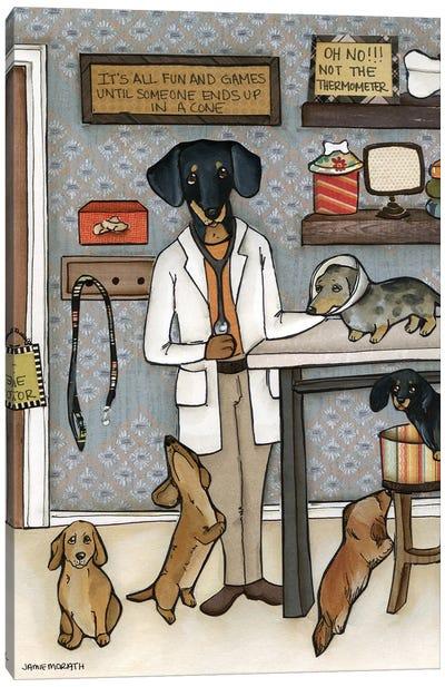 The Doxie Dogtor Canvas Art Print