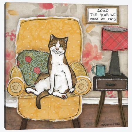 We Were All Cats Canvas Print #MRH523} by Jamie Morath Art Print