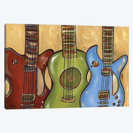 3 Guitars Canvas Print #MRH534} by Jamie Morath Canvas Art Print