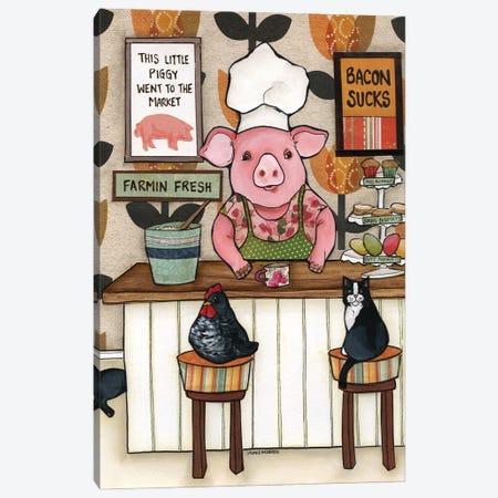 Bacon Sucks Canvas Print #MRH537} by Jamie Morath Canvas Print