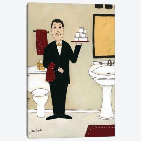 Bathroom Butler I Canvas Print #MRH539} by Jamie Morath Canvas Wall Art