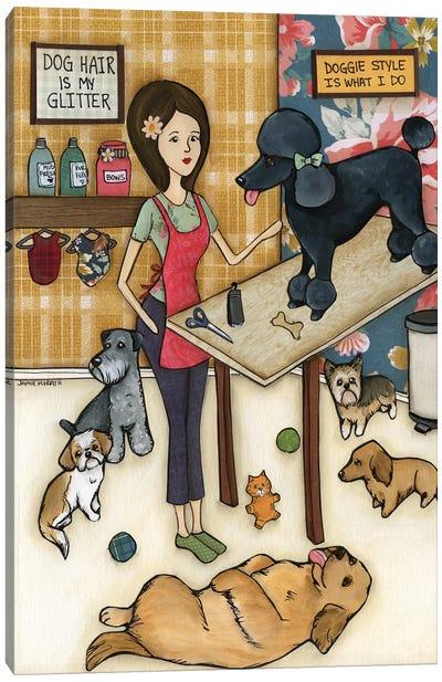 Doggie Style Canvas Art Print