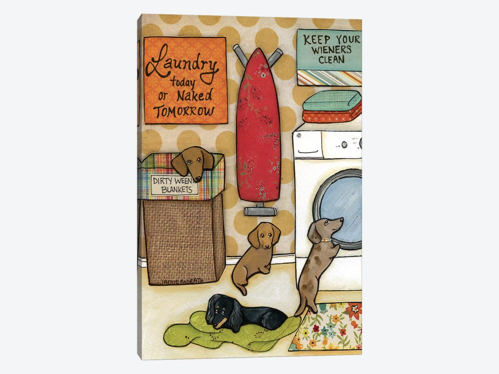 Keep Your Wieners Clean by Jamie Morath 1-piece Canvas Art Print