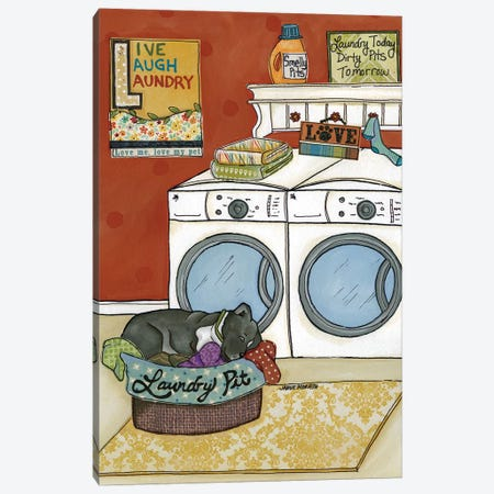 Laundry Pit 3-Piece Canvas #MRH57} by Jamie Morath Canvas Artwork